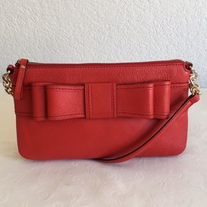 Kate spade red bow cross body bag